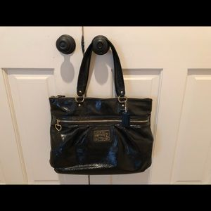 Black Coach patent handbag